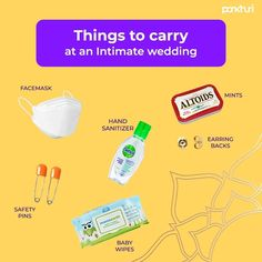 As we are adapting to the new normal - the Big Fat Desi Shaadi is slowing shaping into small skiinny Wedding, soon we all will be attending ntimate weddings. So, here is a list of essentials to carry to make sure that you have a safe and fun celebration.  #askpankhuri #pankhuribride #bride #virtualwedding #intimatewedding #virtualweddingplanner #virtualweddingplanning #virtualweddingplanningtips #virtualweddingservices #onlinewedding #onlineweddingplanner #weddingplanning #onlinewedding… Altoids Mints, Online Wedding Planner, The New Normal, Wedding Planning Tips, Earring Backs, Hand Sanitizer, Carry On, Desi, Celebration