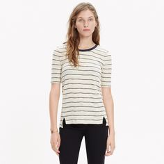 Soundcheck Ringer Tee in Wide Stripe : tees & more | Madewell