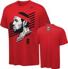 LeBron James Youth Nike Red Team USA Basketball 2012 Olympics Hero T-Shirt