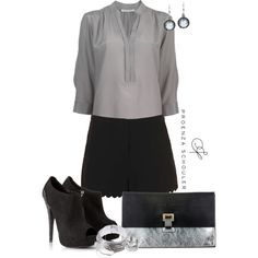 A fashion look from September 2013 featuring Topshop shorts, Lipsy ankle booties and Proenza Schouler clutches. Browse and shop related looks.