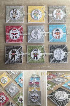 Tutoriel carte tri fold Emporte pièce de Noël et Cookies Cutter Halloween par Marie Meyer Stampin up - http://ateliers-scrapbooking.fr/