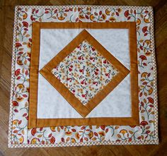 Fall  Autumn Primitive Quilted Table Topper  $20