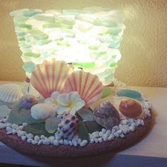 シーグラス/コンセント付ソケット/土台は鍋しき/海で拾った貝とシーグラス/ハンドメイド…などのインテリア実例 - 2015-09-16 15:10:42 | RoomClip(ルームクリップ)
