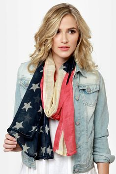 Lady Liberty American Flag Scarf at LuLus.com!
