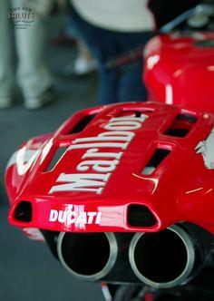 two-gun-salute: Carlos Checa's '05 Ducati Moto GP race bike @ Donington in the Summer.