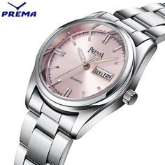 PREMA Clock Women Watches Relogio Feminino Stainless Steel Lady Wrist Watch Fashion Casual Montre Femme Quartz Sport Women Watch. Yesterday's price: US $25.47 (21.06 EUR). Today's price: US $11.97 (9.91 EUR). Discount: 53%.