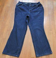 Lane Bryant Distinctly Boot Blue Jeans Size 18 Petite #LaneBryant #BootCut
