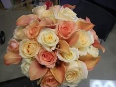 Peaches and Cream Ivory Champagne Pink Rose Peach Wedding Decor 25