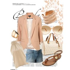 Peachy Afternoon, created by basicensemble.polyvore.com