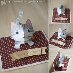 pop-up birthdaycard [American shorthair] original handmade by Kagisippo. ------------------------- [Youtube] https://youtu.be/Raq6d8T-AT0