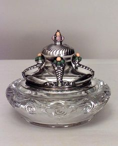 French Victorian accessories inkwell crystal
