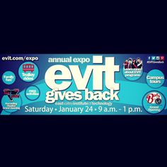 How are you giving back? Today is #GivingTuesday, it's a great way to give back to your community. This year #EVIT is giving back and we would like you to save the date for the annual EVIT Expo, #EVITGivesBack! There will be fun, food and freebies! Most of the proceeds raised that day will go to the #MesaUnitedWay. See you on Sat., Jan 24 from 9a-1p! #WeAreEVIT