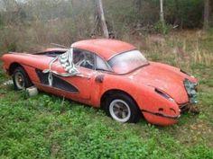 Chevrolet Corvette for Sale Jaguar, Junkyard Cars, Abandoned Cars, Abandoned Vehicles, Abandoned Places, Automobile, Chevrolet Corvette, Chevrolet Auto, 1958 Corvette