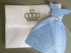 FREE SHIPPING  Princess dress invitation Cinderella by FalcoClan