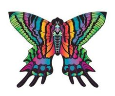 """Amazon.com: Butterfly 54"""" Super Sized 3-D Kite: Toys & Games"""
