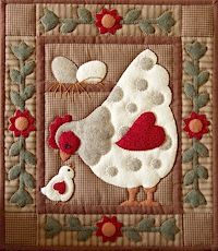 chicken quilts | Chicken quilt kit from Fabric With Love