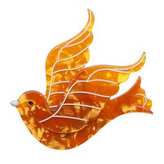 Mother's Day Gift Ideas : Barbarella's Bird (Erstwilder Orange Resin Brooch), now available. Hand assembled and hand painted, presented in a branded box. Bird Jewelry, Plastic Jewelry, Resin Jewelry, Jewellery, Presents For Women, Unique Presents, Gifts For Women, Unique Mothers Day Gifts, Mother Gifts