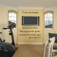 One day I'll have and exercise room, and this would be an awesome idea! :)
