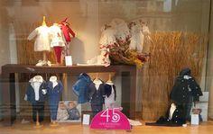 Le nostre vetrine allestite per la stagione autunnale! #vetrine #abbigliamento #autunno2015 #bambini www.nidodigrazia.it