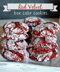 Red Velvet Box Cake Cookies