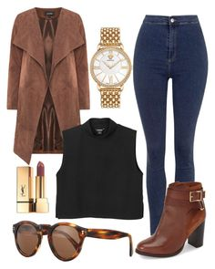 """""""Untitled #102"""" by victorine-b ❤ liked on Polyvore featuring Illesteva, Versace, Topshop, Yves Saint Laurent, Monki, women's clothing, women's fashion, women, female and woman"""