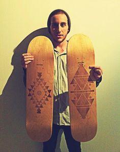 Laser Engraved Skate Decks by Toxn , via Behance