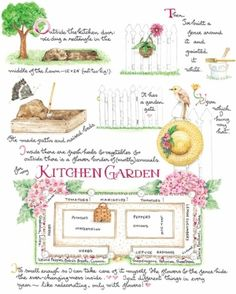 Kitchen Garden ~ Susan Branch Always have admired this garden with the white picket fence!:)