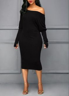 Cheap sexy club party dresses Dresses online for sale Women's Fashion Dresses, Sexy Dresses, Casual Dresses, Beautiful Dresses, Black Long Sleeve Dress, Midi Dress With Sleeves, Sleeve Dresses, Long Fall Dresses, Black Dresses Online
