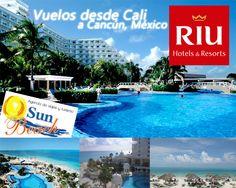 #Viaja este Fin de Año al #Caribe y disfruta de los #mejores #hoteles del mundo RIU CANCÚN desde #Cali #Reserveplandeviaje o en www.sunbeachcali.com