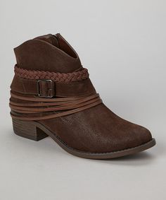 Take a look at this Brown Howdy Ankle Boot by Dollhouse on #zulily today!