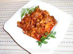 Smaczki mojej kuchni: Żołądki w paprykowej cebulce