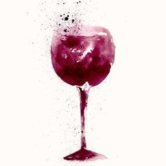 Image result for wine watercolor wallpaper