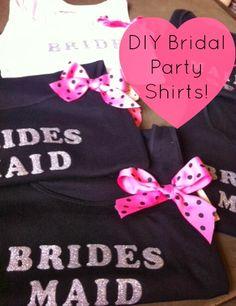 A Beach Lover: DIY Bridal Party Shirts