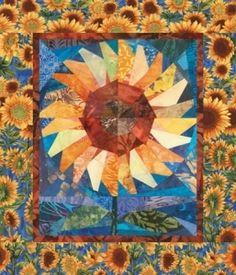 Quilt Patterns Free Quilt Patterns eQuiltPatterns.com: Twirling Sunflower Quilt Pattern $3.95