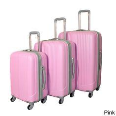 world traveler argo 3piece expandable hardside spinner luggage set by world traveler - London Fog Luggage