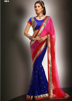 Buy Pink Color Chiffon Saree Online – Fashionic: Indian Ethnic Wear