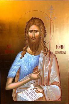 Jesus Son, John The Baptist, Roman Catholic, Byzantine, Ikon, Saints, Christian, Movie Posters, Catholic