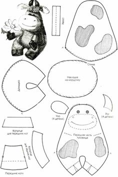 Sewing Toys, Baby Sewing, Sewing Crafts, Felt Doll Patterns, Stuffed Toys Patterns, Sewing Projects For Kids, Sewing For Kids, Knitting Patterns Free, Sewing Patterns