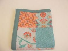 Coral Aqua Baby Bedding Modern Baby Quilt by TakeTwoBabyQuilts, $54.99