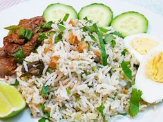 Nasi Ulam - Malaysian Herbed Rice