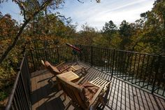 Outdoor viewsThe rooftop deck offers a view of the treetops. The telescope is a great way to learn about the constellations. Photo: Michael Ciaglo, Staff / © 2015  Houston Chronicle