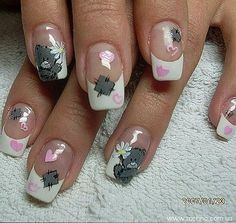 Tatty Teddy en tu manicure !!! :)