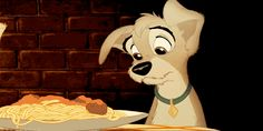 When this plateful of spaghetti debuted for our hungry eyes. | 17 Times Disney Made You Drool Uncontrollably For Frikkin' Cartoon Food
