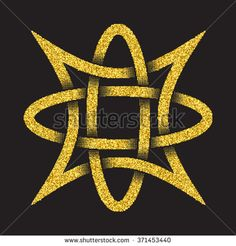 Golden glittering template in Celtic knots style on black background. Tribal in four pointed star maze form. Gold ornament for jewelry design. Corset Sewing Pattern, Deco Cuir, Cool Shirts For Men, Tribal Symbols, Form Drawing, Celtic Knots, Gold Ornaments, Fantasy Miniatures, Celtic Art