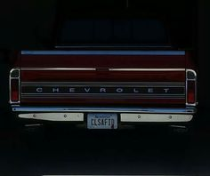 71-72 chevy truck tag °~°