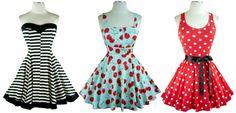 Loveee these Vintage style dresses!