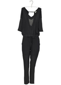 Combinaison Perlée Décolletée Dos Noir  Stella Forest pour femme sur Place des tendances Groupe Printemps. Retrouvez toute la collection Stella Forest pour femme.