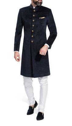 Indian Dress Solid Color Velvet Sherwani Indo Western for Men Wedding Partywear Achkan Jodhpuri Rajasthani Designer Royal Traditional Suit - Jodhpuri suits for men - Sherwani For Men Wedding, Wedding Dresses Men Indian, Wedding Dress Men, Wedding Men, Indian Dresses, Ethnic Wedding, Wedding Groom, Wedding Outfits, Punjabi Wedding