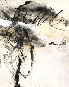 © Sophie Cape ~ Jung Si ~ 2014 Ink, Charcoal, Oil, Soil, Acrylic, Bitumen and Graphite on Saunders Waterford Paper at Olsen Irwin Gallery Sydney Australia