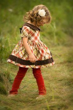 Persnickety Tartan Plaid Girls Baby Doll Dress
